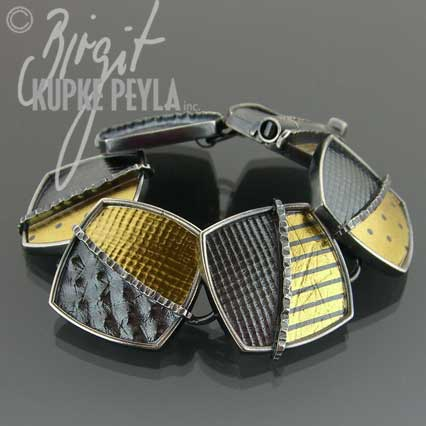 silver and gold bracelet - jewelry made by Birgit Kupke-Peyla
