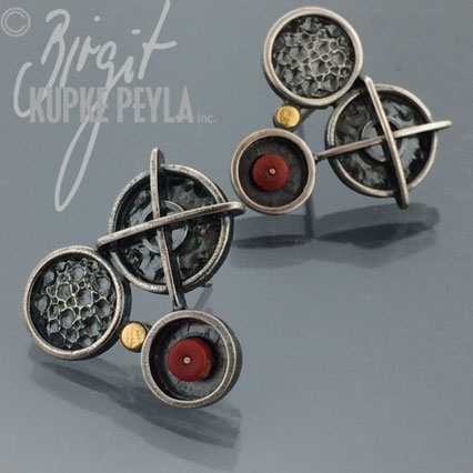 Coral Stud Earring - jewelry made by Birgit Kupke-Peyla