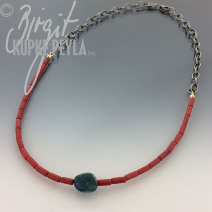 Coral and Tourmaline Necklace