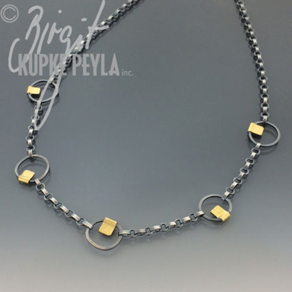Necklace with  multiple small circles