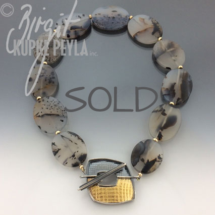 Montana Agate Necklace with Toggla Clasp