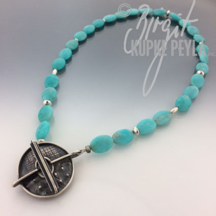 Amazonite with Sterling Silver Toggle clasp