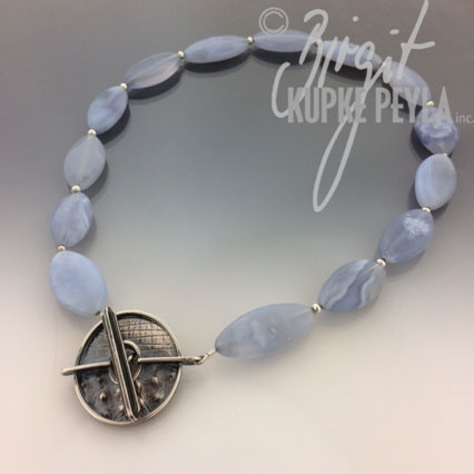Blue Lace Agate with Sterlin Soilver toggle clasp