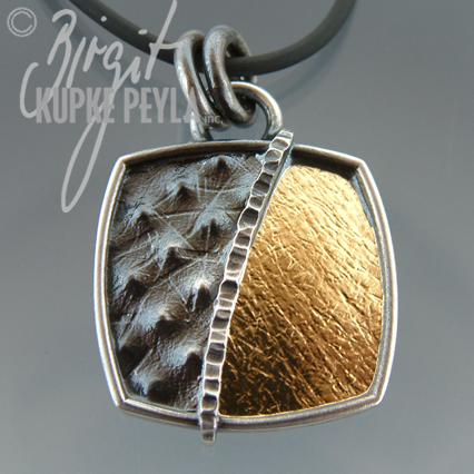 Cushion Shaped Gold-Silver Pendant